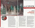 Arts North of Ordinary, Annual Cover Contest article, winner Leslie Leong, Canadian artist, Whitehorse, Yukon.